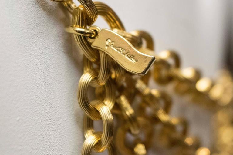 1980's Judith Leiber Gold Tone Chain Link Belt  For Sale 1