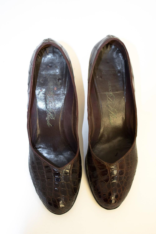 Dark Chocolate Peep Toe Shoes