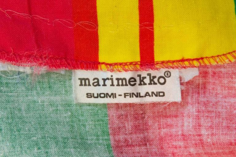 Orange 70s Marimekko Printed Dress with Sash  For Sale