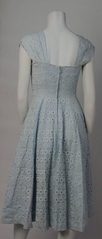 50s Suzy Perret Baby Blue Lace Dress with Bows 2