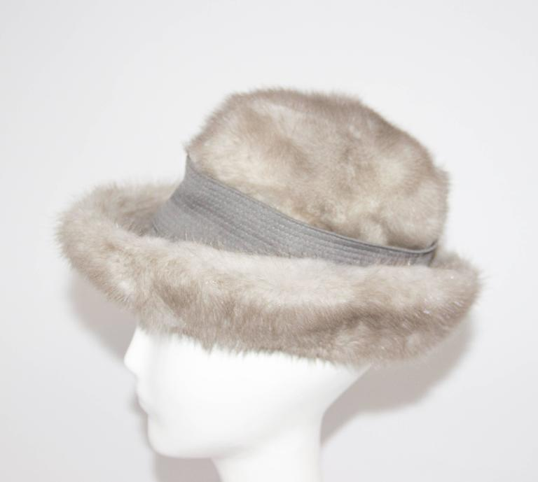 60s Grey Mink Hat. 