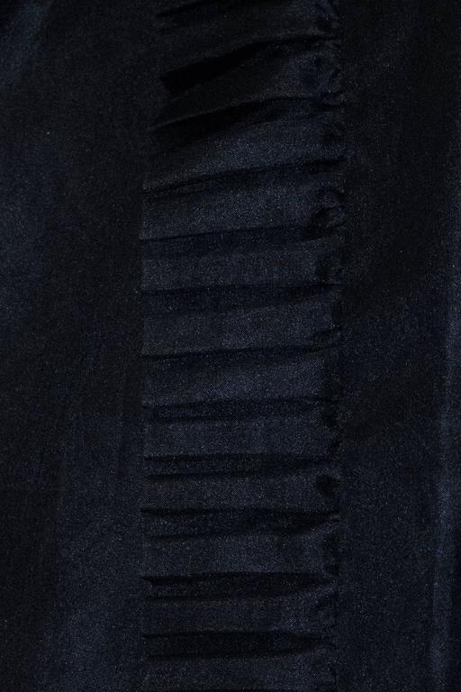 50s Black Jeunes Filles Organza Dress with Scarf 4