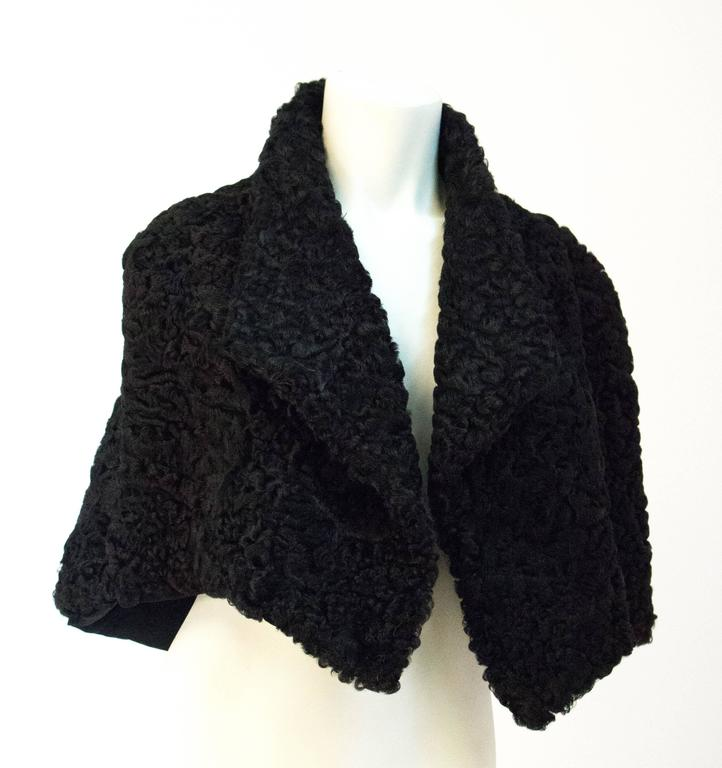 50s Black Persian Lamb Capelet  2