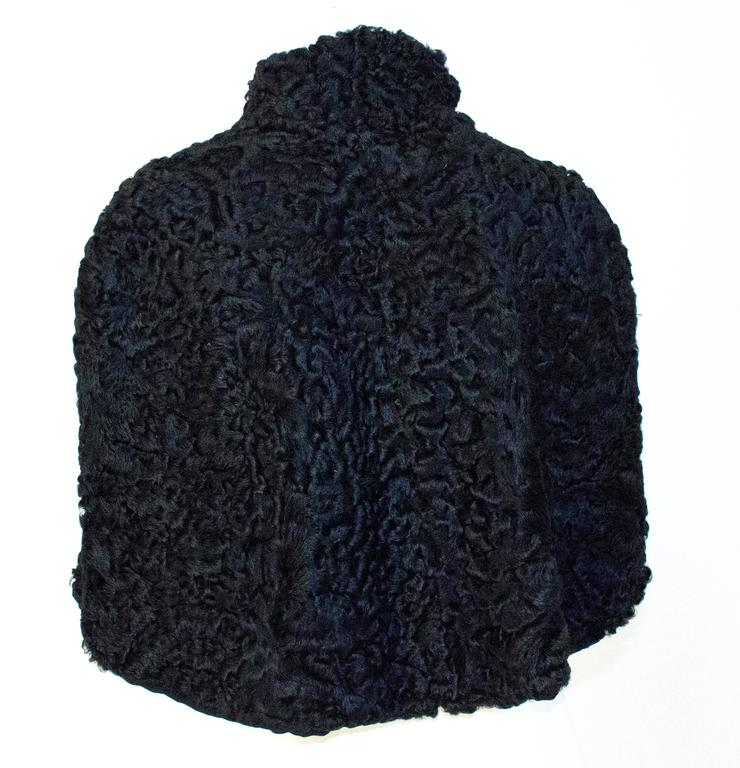 50s Black Persian Lamb Capelet  3