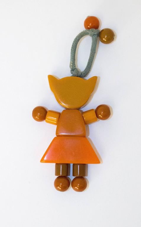 Toys From The 40s : S vintage bakelite cat crib toy at stdibs
