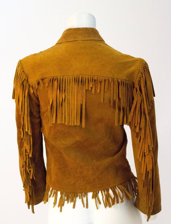 60s Small Suede Western Fringe Jacket  2