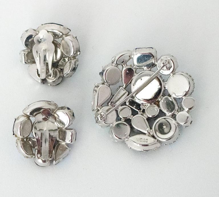 60s Weiss Earring Brooch Set 3