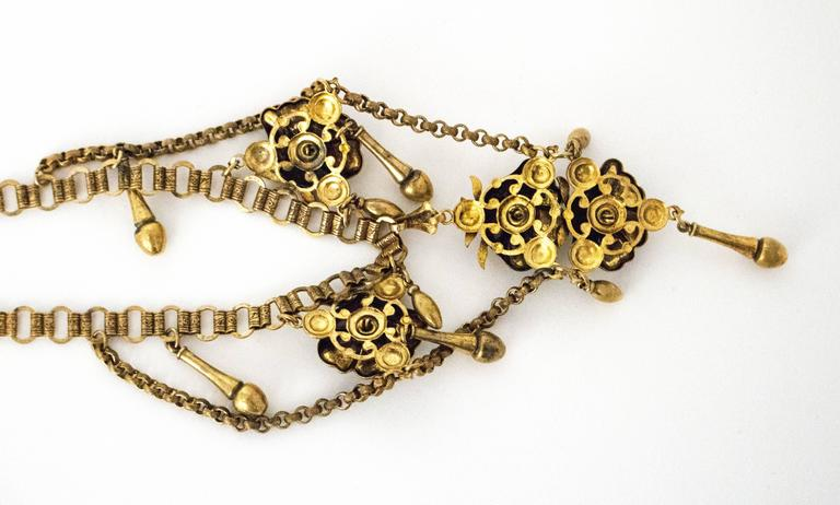 30s Floral Art Nouveau Necklace In Good Condition For Sale In San Francisco, CA