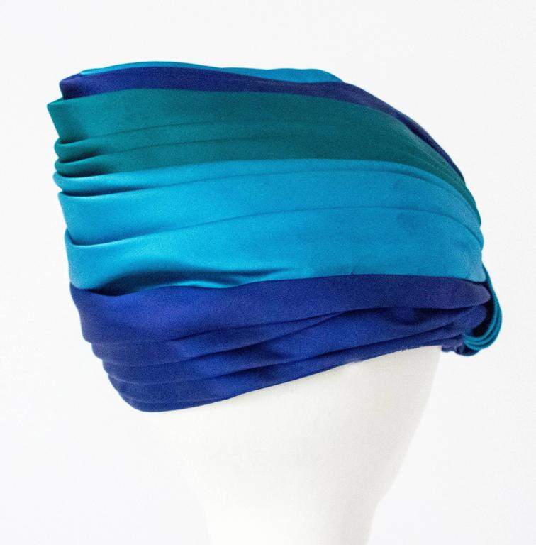 60s Christian Dior Silk Satin Turban  5
