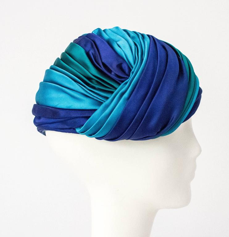 60s Christian Dior Silk Satin Turban  3
