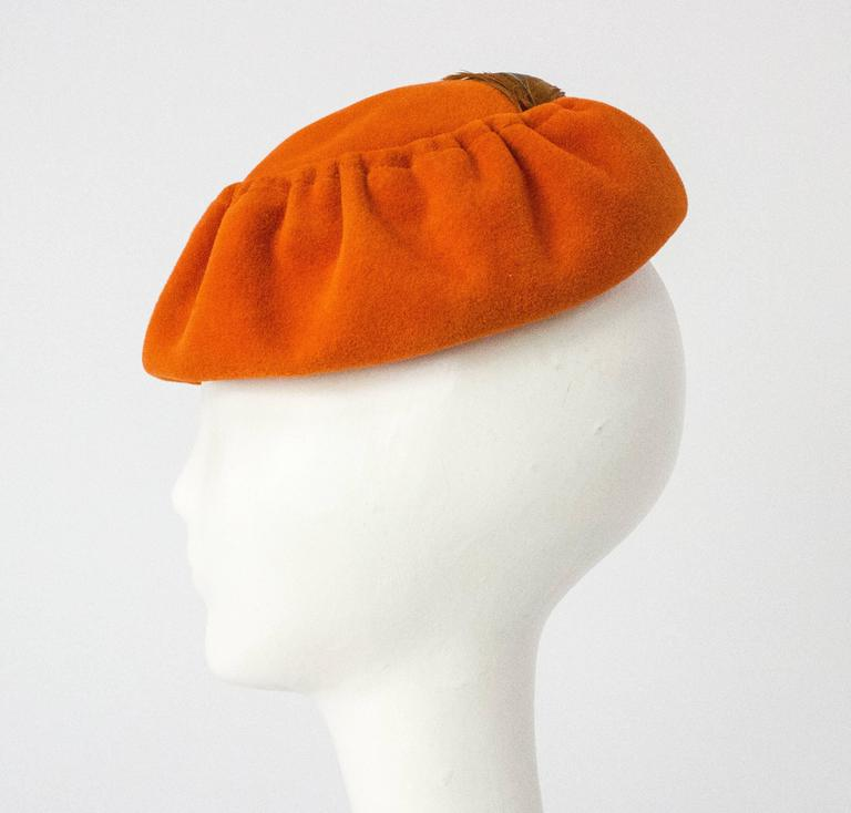 50s Ransohoff Wool Felt Hat Made in Italy 4