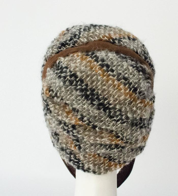 60s Christian Dior Knit Helmet In Excellent Condition For Sale In San Francisco, CA
