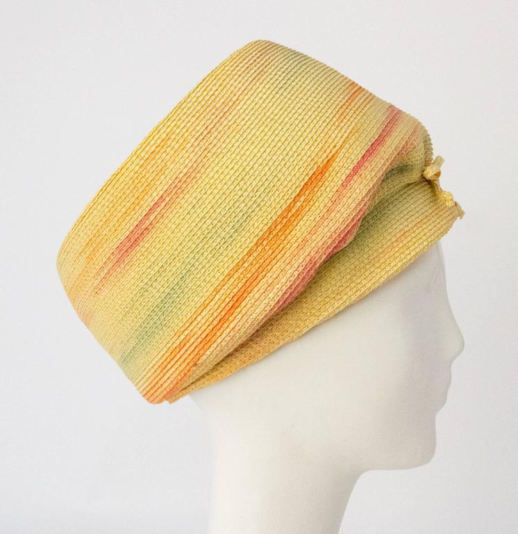Women's 60s Christian Dior Paris Straw Hat For Sale
