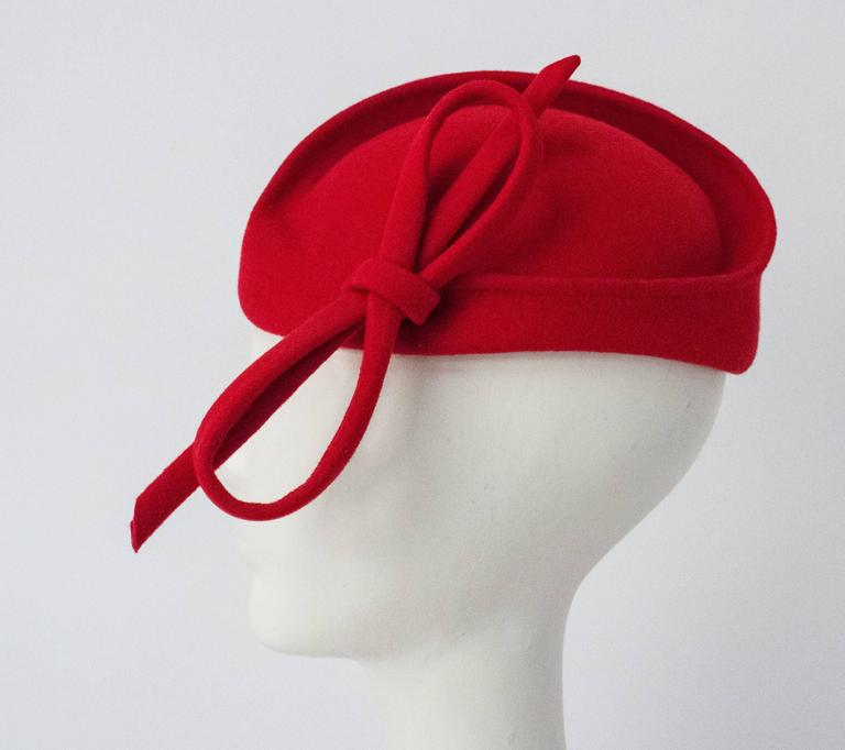 Red Adolfo II Toy Hat In Excellent Condition In San Francisco, CA
