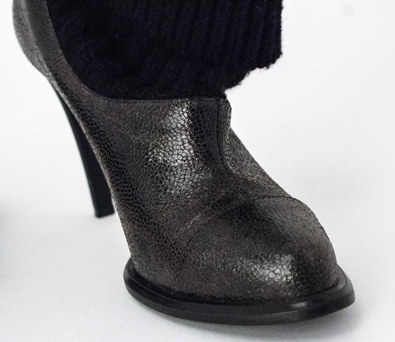 "90s Stella McCartney Sock Bootie. Size EU 37 1/2. 2 3/4"" heel. Vegan leather."