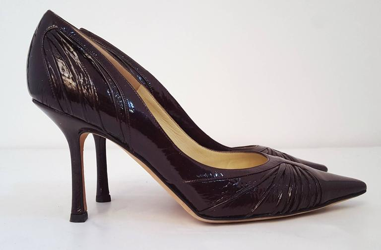 Jimmy Choo Espresso Patent Leather Heels. EU Size 39.