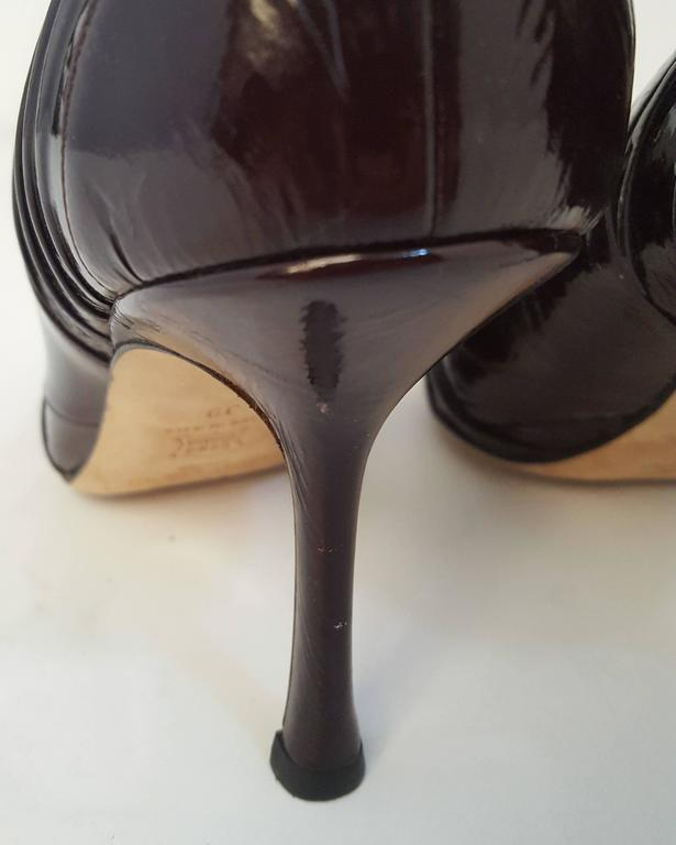 Women's Jimmy Choo Espresso Patent Leather Heels For Sale