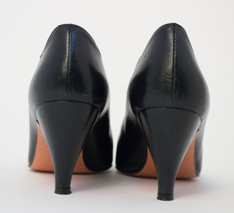 80s Walter Steiger Black Pumps In Excellent Condition For Sale In San Francisco, CA