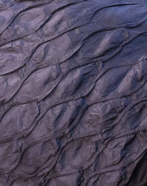 Black 50s Aubergine Smocked Dress For Sale