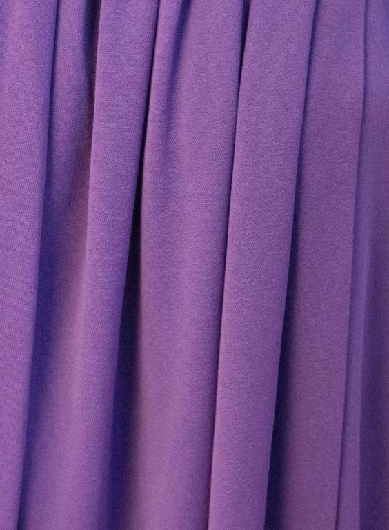 70s Diane Von Furstenberg Long Sleeve Purple Dress In Excellent Condition For Sale In San Francisco, CA