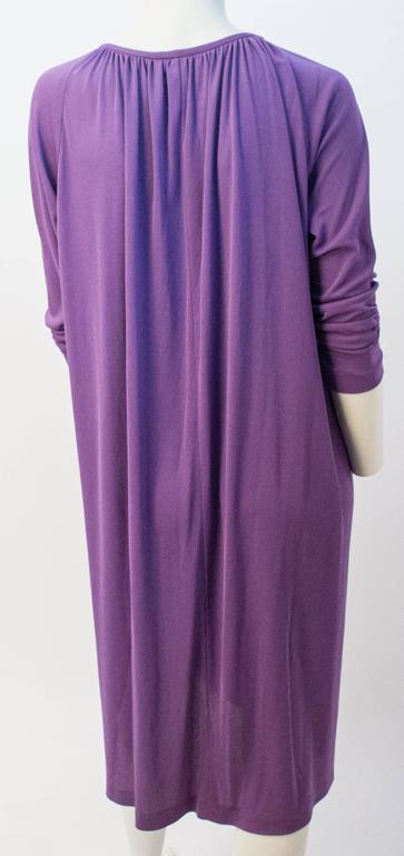 70s Diane Von Furstenberg Long Sleeve Purple Dress For Sale 2