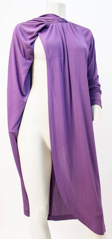 Women's 70s Diane Von Furstenberg Long Sleeve Purple Dress For Sale