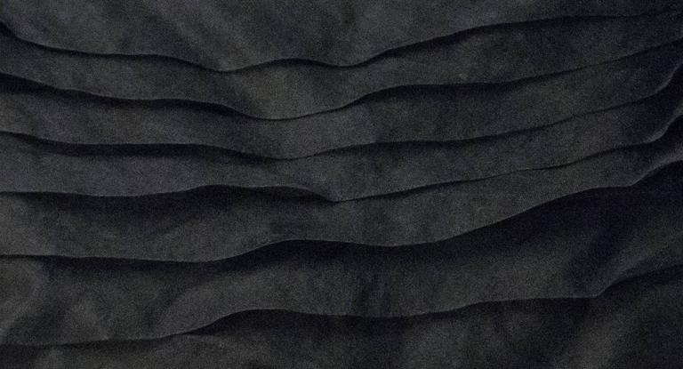 Women's 50s Emma Domb Black Chiffon Tiered Dress For Sale