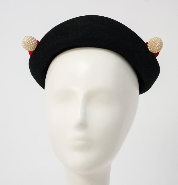Women's 50s wool Felt Hat  For Sale