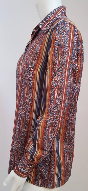 1970s Givenchy for Chesa Printed Shirt.