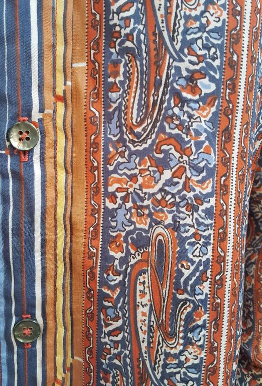 1970s Givenchy for Chesa Printed Shirt In Excellent Condition For Sale In San Francisco, CA