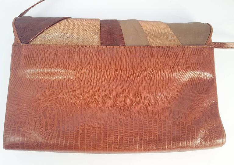 Brown 1980s Sharif Multi Pieced Leather Purse For Sale