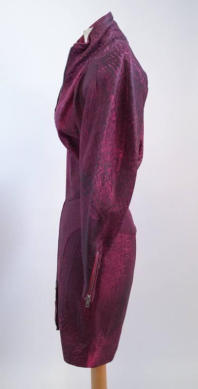 ba4c3c5fee 80s Michael Hoban North Beach Leather Pink Zip Up Dress For Sale at ...