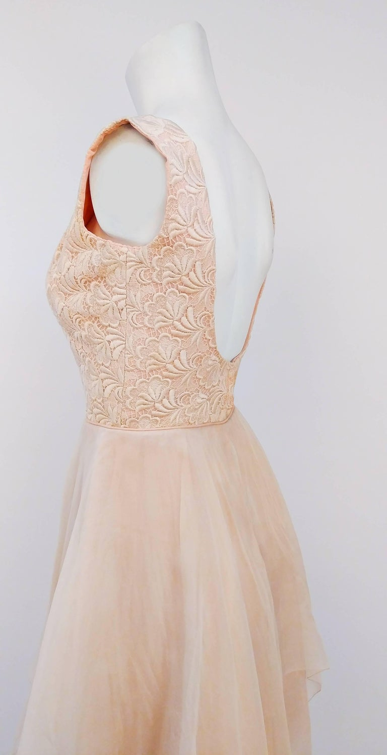 60s Lace And Organza Kerchief Hem Dress For Sale At 1stdibs
