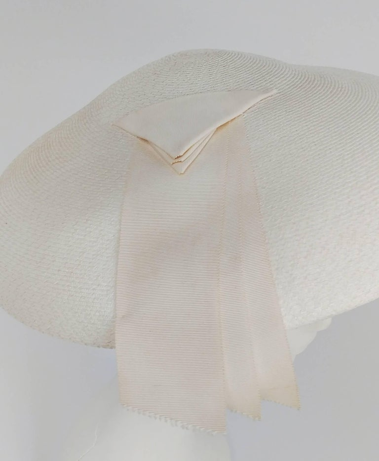 1950s New Look White Saucer Hat 1