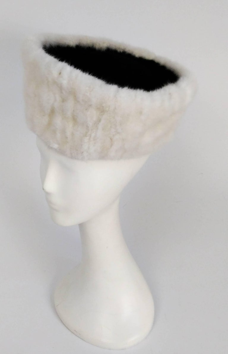 1940s Mink Hat & Muff Set. Muff opens up & comes w/ small mirror. Joseph Magnin.