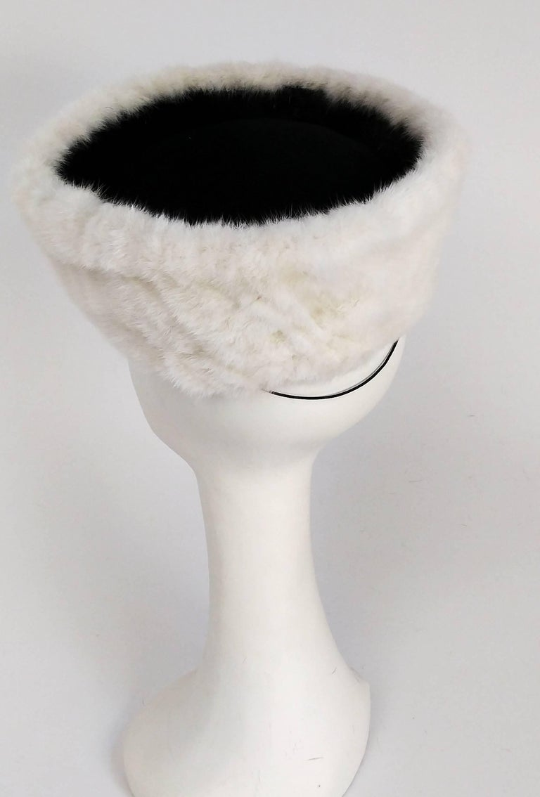 Gray 1940s Mink Hat & Muff Set For Sale