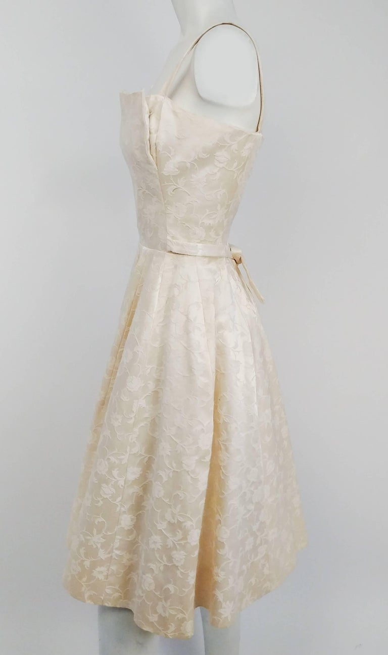 1950s white jacquard cocktail dress for sale at 1stdibs 1950s white jacquard cocktail dress in excellent condition for sale in san francisco ca ombrellifo Images