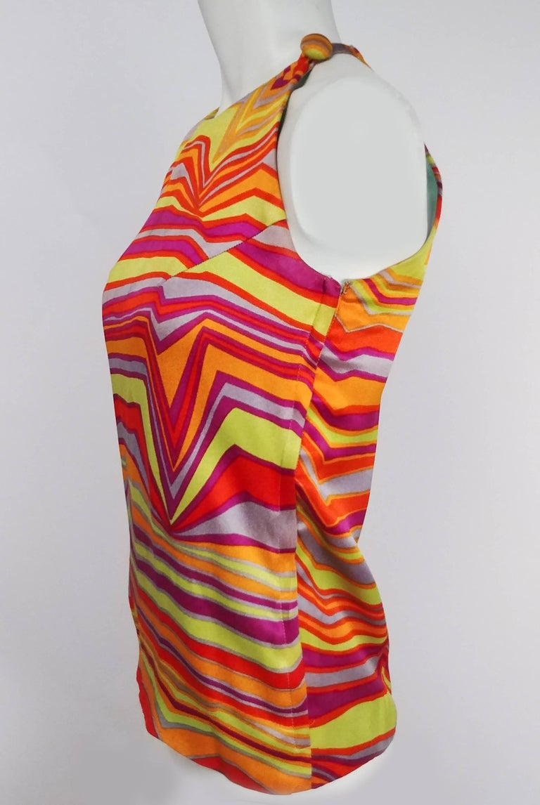 Red 1960s Acid Rainbow Psychadelic Two Piece Set For Sale