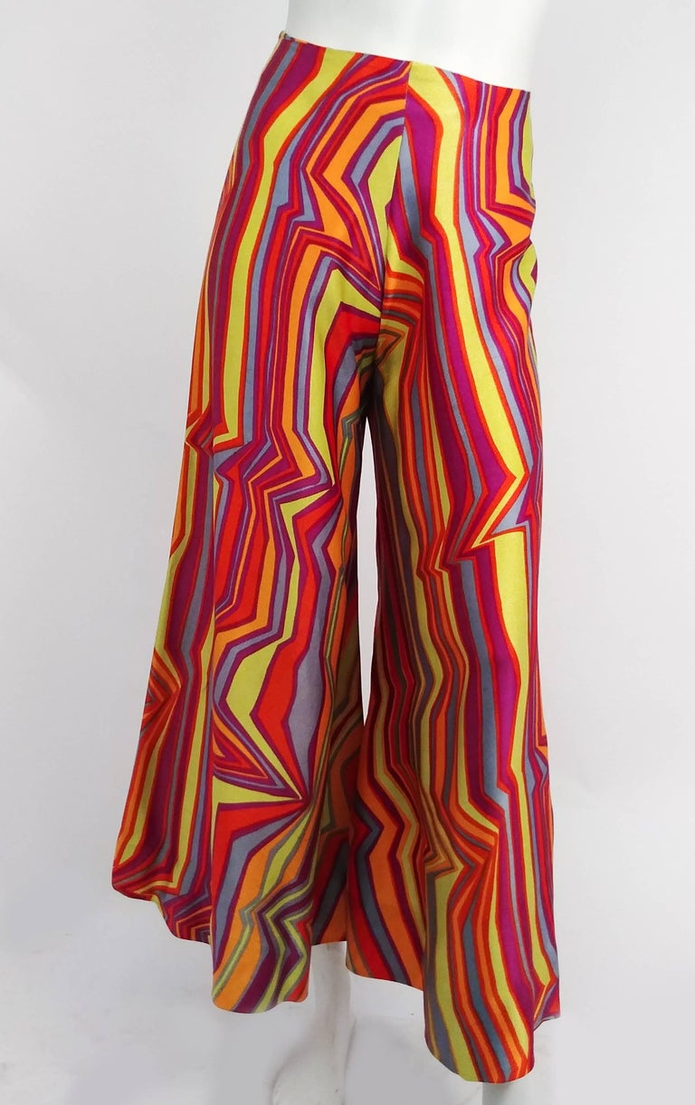 1960s Acid Rainbow Psychadelic Two Piece Set In Excellent Condition For Sale In San Francisco, CA