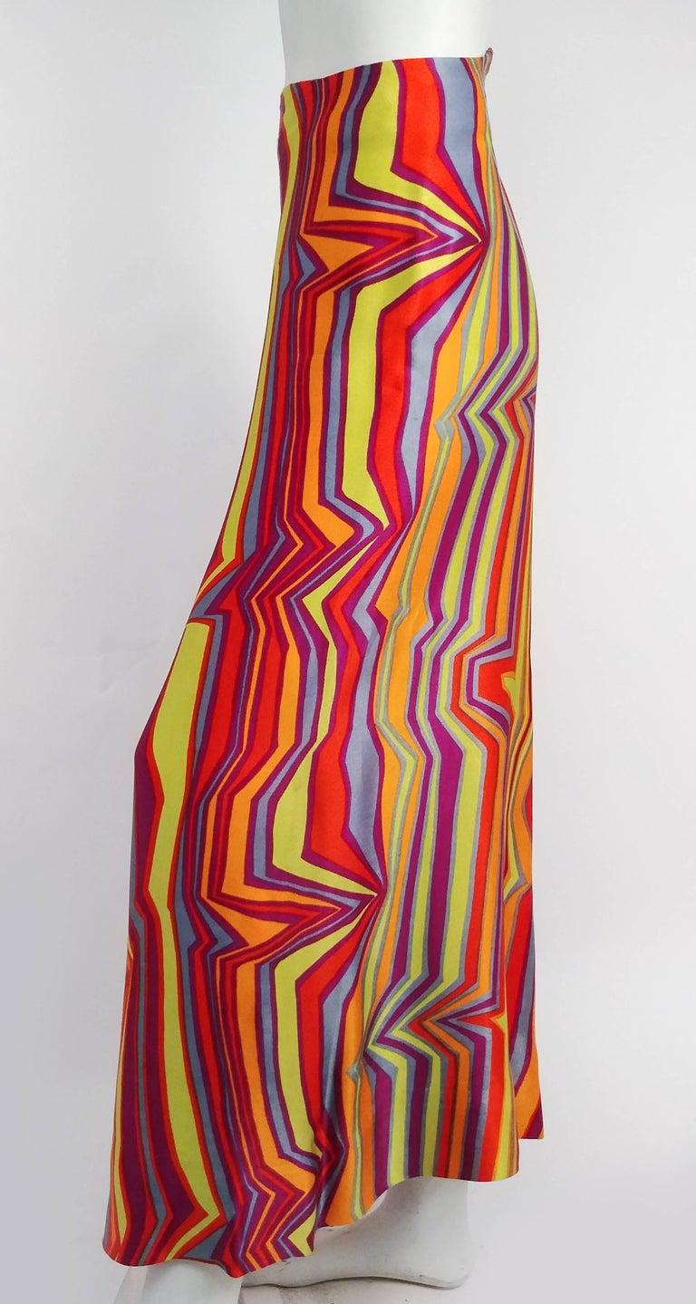 Women's 1960s Acid Rainbow Psychadelic Two Piece Set For Sale