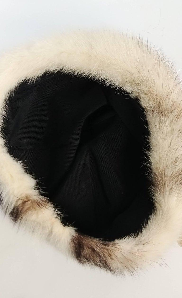 Women's 1960s Cream Cone Mink Hat For Sale