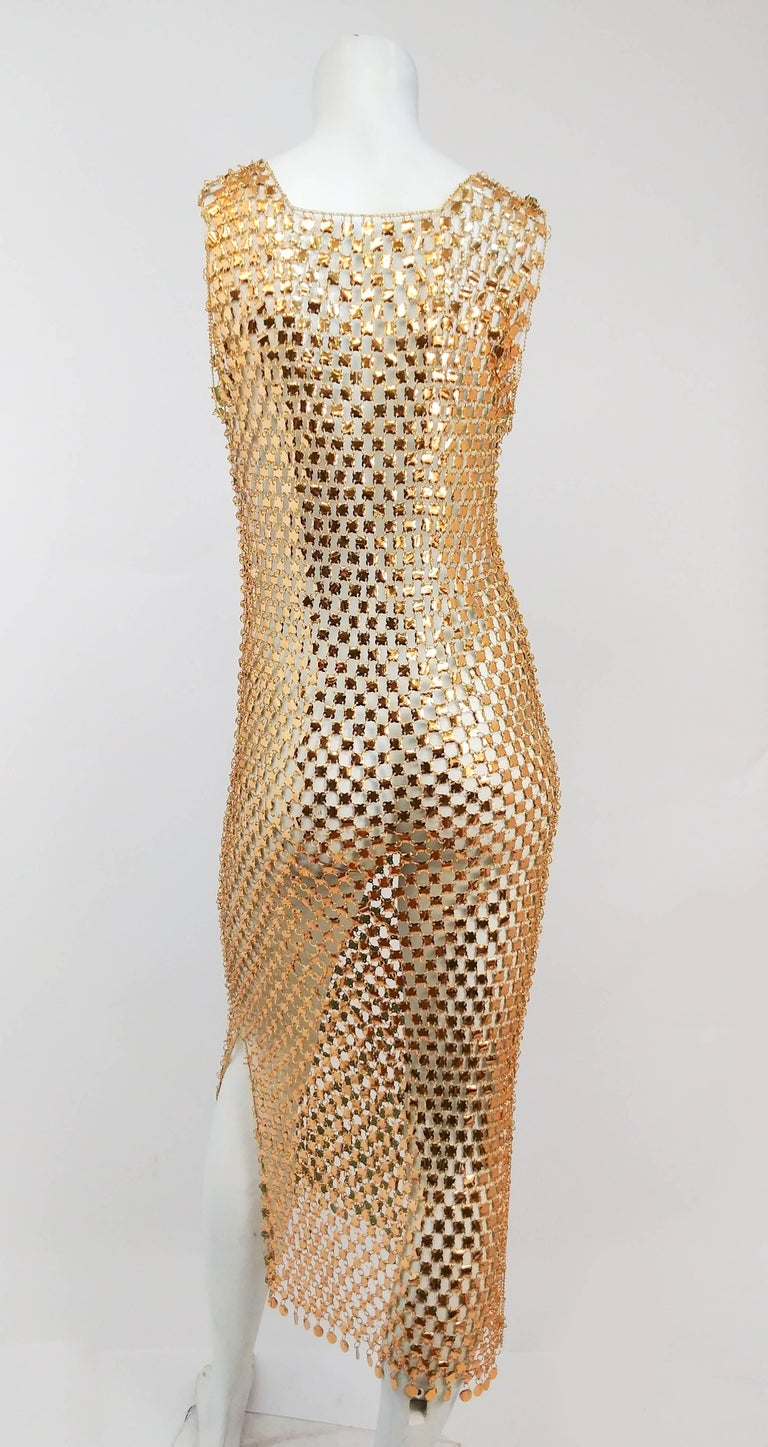 1970s Paco Rabanne Chain Link Disco Dress In Excellent Condition In San Francisco, CA