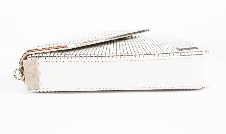 1970s Pierre Cardin White Metal Mesh Purse For Sale 2