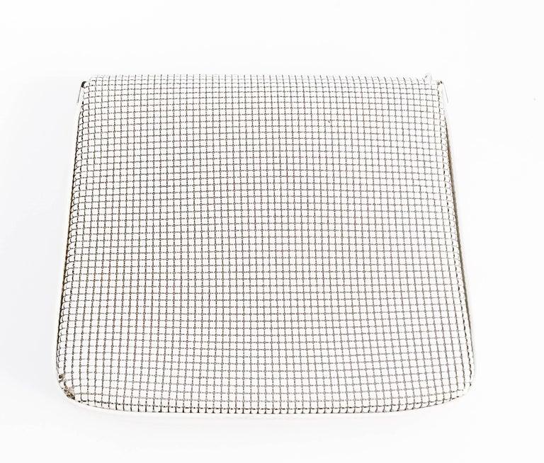 1970s Pierre Cardin White Metal Mesh Purse For Sale 4