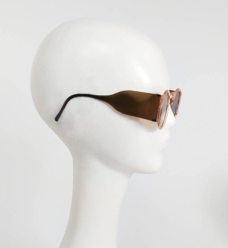 1930s Light Pink Round Celluloid Sunglasses 1
