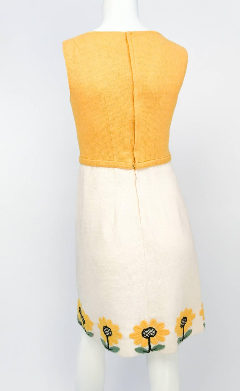 1960s Lanz Mod Daisy Dress In Good Condition For Sale In San Francisco, CA