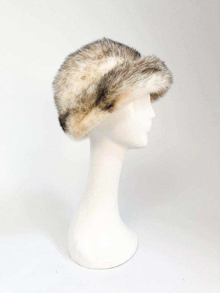 Beige 1960s Mink I. Magnin Hat For Sale