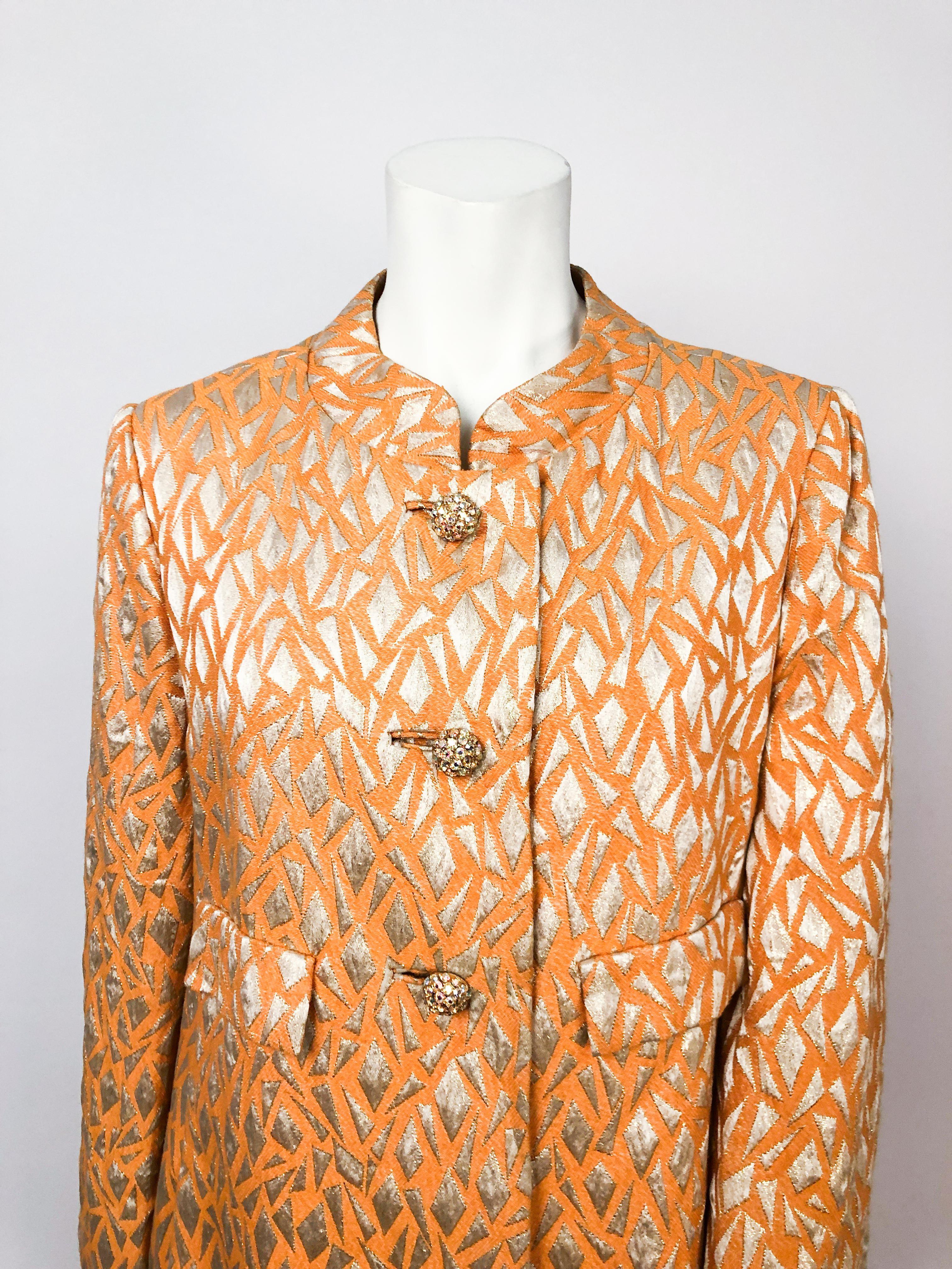 Orange Evening Coat