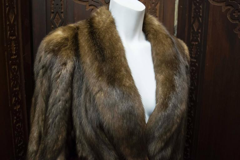 Karl Lagerfeld Sable Fur Coat. 