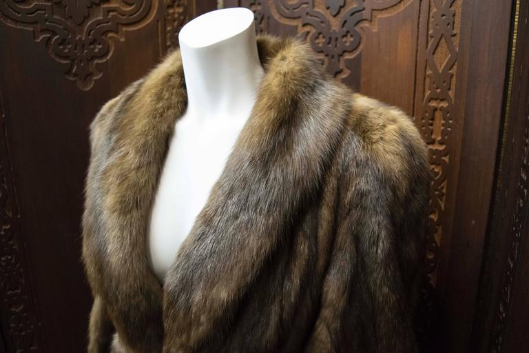 Brown Karl Lagerfeld Sable Fur Coat.  For Sale